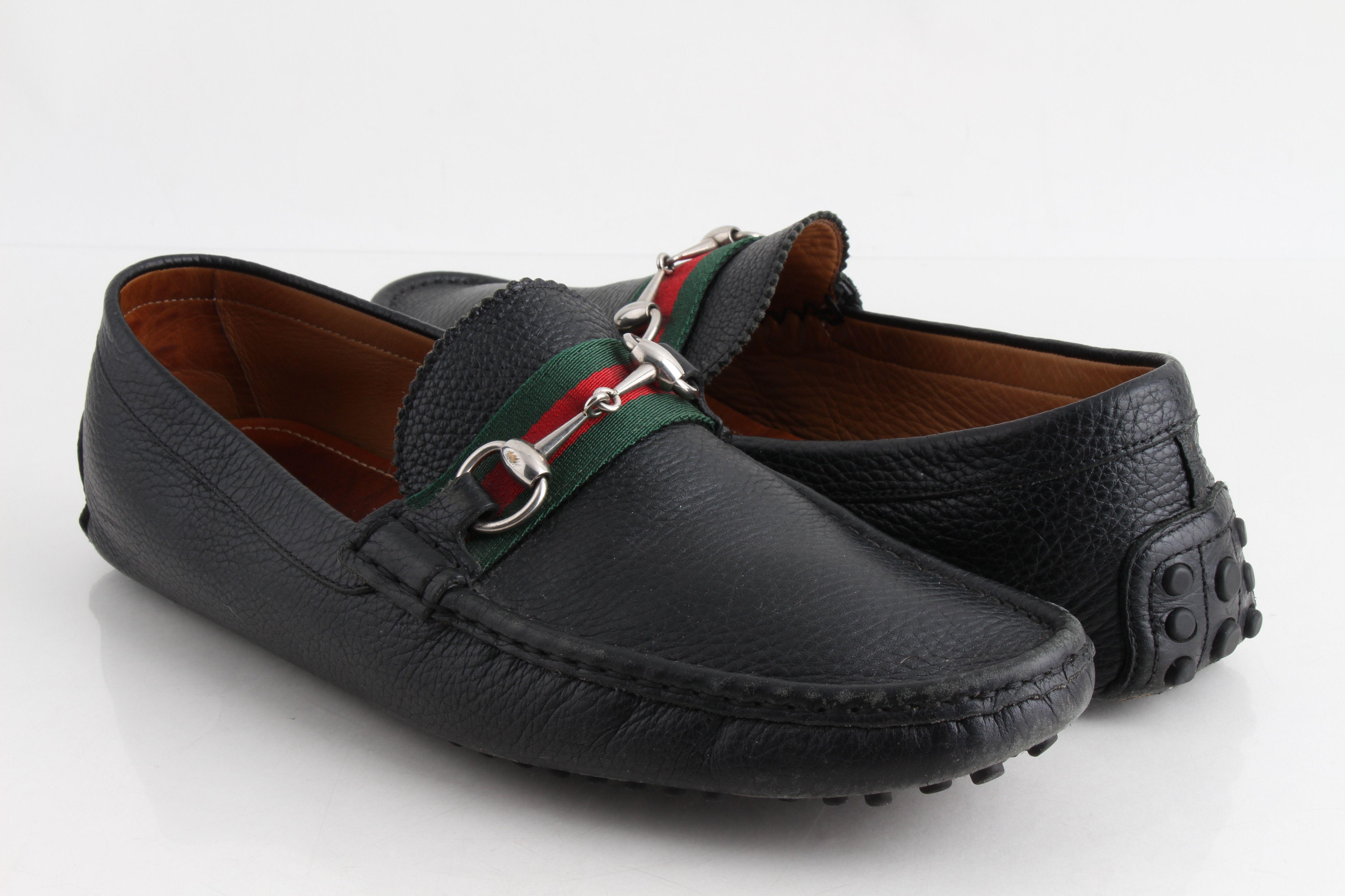 Gucci Black Horsebit Leather Web