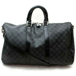 Louis Vuitton Damier Graphite Keepall Bandouliere 45 Boston Duffle with Strap 861542
