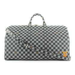 Louis Vuitton Black Distorted Damier Keepall Bandouliere 50 Duffle Bag 125lvs23