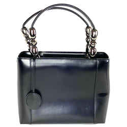 Dior Mini Lady Black Leather Fancy Tote 16da529 ""