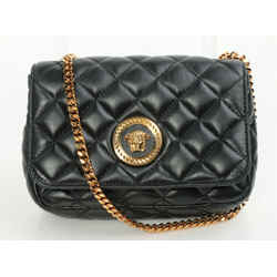 Versace Nappa Quilted Medusa Chain Crossbody