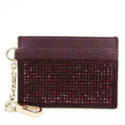 Versace Leather Studded Card Case Dark Purple BF525593