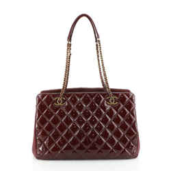Eyelet Tote Quilted Patent Medium