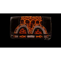Carlos Falchi Snakeskin Clutch/shoulder Bag