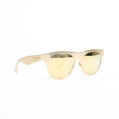 Bottega Veneta Gold Metal Mirrored Sunglasses