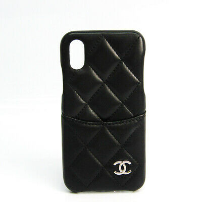 Chanel Leather Phone Skin For IPhone X Black Matrasse A83565 BF522497