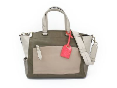 Reed Krakoff 22640 Women's Leather Tote Bag Beige,ivory,khaki Bf310663