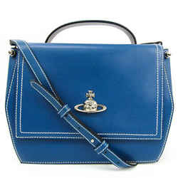 Vivienne Westwood Women's Leather Handbag,Shoulder Bag Blue BF518480