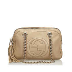 Soho Calf Leather Chain Shoulder Bag