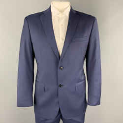John Varvatos * U.s.a. Size 42 Navy Wool Notch Lapel Suit