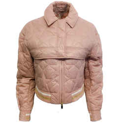 Stella McCartney Blush Pink Star Quilted Nylon Jacket