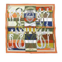 Orange Hermes Della Cavalleria Silk Scarf