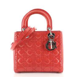 Lady Dior Bag Cannage Quilt Patent Medium