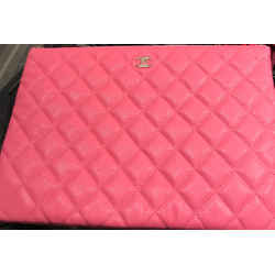 Chanel Pink Caviar Clutch 19c