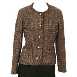 Chanel Boucle Jacket with Gold Buttons