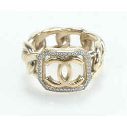Chanel Pearl CC Ring S Gold