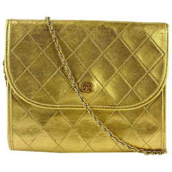 Chanel Gold Quilted Leather Mini Flap 19CCA1117