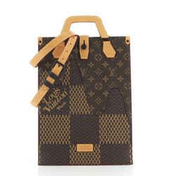 Nigo Sac Plat Handbag Limited Edition Giant Damier and Monogram Canvas Mini