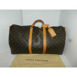 LOUIS VUITTON MONOGRAM KEEPALL BANDOULIERE 55 Travel Duffle Carry On Bag A384