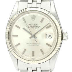 Vintage ROLEX Datejust 1601 White Gold Steel Automatic Mens Watch BF529339