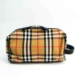 Burberry Wash Bag 4074725 Unisex Cotton,Polyester Clutch Bag Beige,Blac BF519905