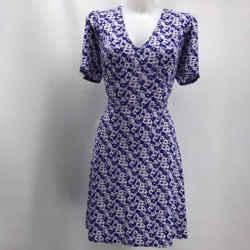 Michael Kors Purple Short Sleeve Dress Large