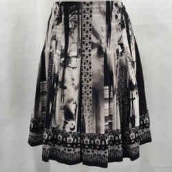 Elie Tahari Black Printed Skirt 4