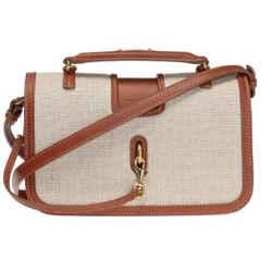 Saint Laurent Ysl Bo Charlotte Lino Legend Natural Beige Cognac Leather 499463