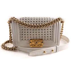 Chanel Woven Calfskin Boy Bag