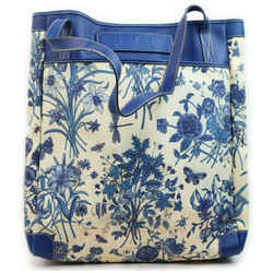Gucci  Blue Floral Shopper Tote Bag 862291