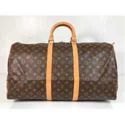 Louis Vuitton Monogram Keepall 55 Top Handle Travel Duffle Bag