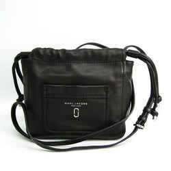 Marc Jacobs M0012552 Women's Leather Shoulder Bag Black Bf513475