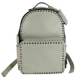 Valentino Garavani Rockstud Leather Backpack Light Green