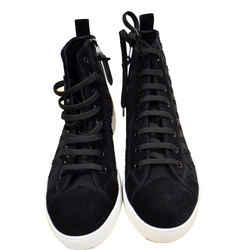 LOUIS VUITTON  High Top Suede Sneaker Black