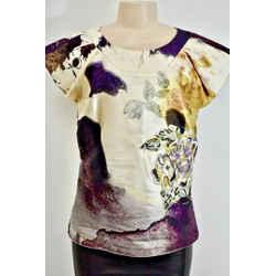 Christian Lacroix Silk Multicolor Women's Floral Top Size 42 - 8 On Sale sn