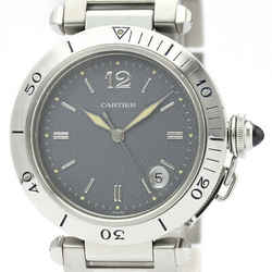 Polished Cartier Pasha 38 Stainless Steel Automatic Mens Watch W31017H3 BF510743