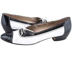 Salvatore Ferragamo Lace Pumps Black/White Size 11 Authenticity Guaranteed
