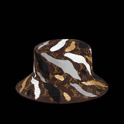 Louis Vuitton LVxLOL Monogram Bucket Hat Brown Silver Hat Cap 872519