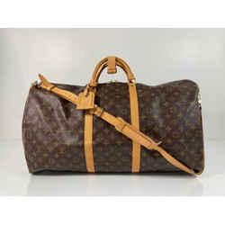 Louis Vuitton Monogram Keepall 60 Travel Duffle Bag