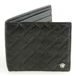 Versace Greca Argyle Medusa Leather Bifold Wallet