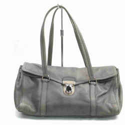 PradaGrey Leather Boston 860059