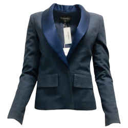 Chanel Blue Washed Denim Blazer