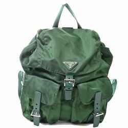 Auth Prada Prada Nylon Vera Rucksack Backpack Green