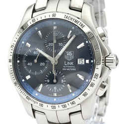 Polished TAG HEUER Link Chronograph Steel Automatic Mens Watch CJF2114  BF532601