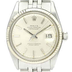 Vintage ROLEX Datejust 1601 White Gold Steel Automatic Mens Watch BF529373