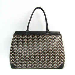 Goyard Bellechasse PM Canvas,Leather Tote Bag Black BF506578