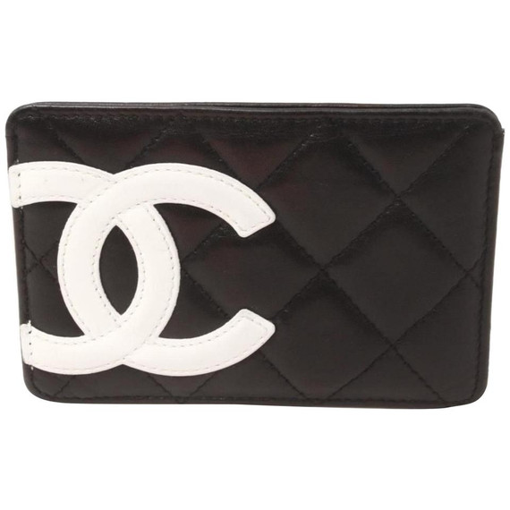 Chanel Black Quilted Leather Cambon Ligne Card Holder  861897