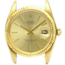 Vintage ROLEX Oyster Perpetual Date 1500 18K Gold Watch Head Only BF522783