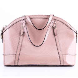 Gucci Nice Micro Guccissima Patent Leather Top Handle Bag