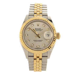 Oyster Perpetual Datejust Automatic Watch Stainless Steel and Yellow Gold with Diamond Markers 28